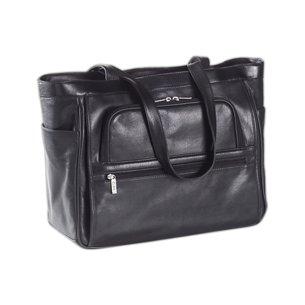 Super Tote With A Main Compartment That Unzips To A Removable Laptop Sleeve Photo