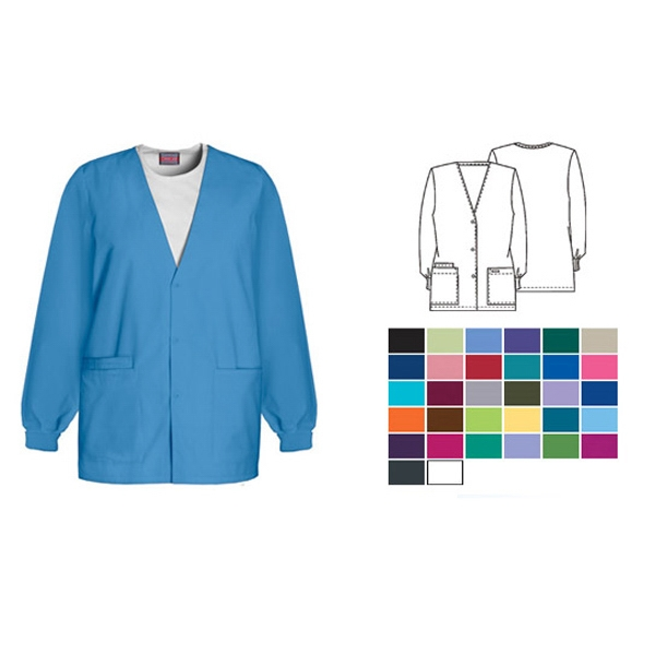 Cherokee - Cardigan V-neck Scrub Jacket. Blank Photo