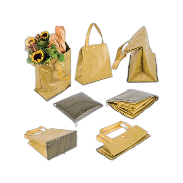"Aluminum Non-woven ""fold Away"" Tote Bag Photo"