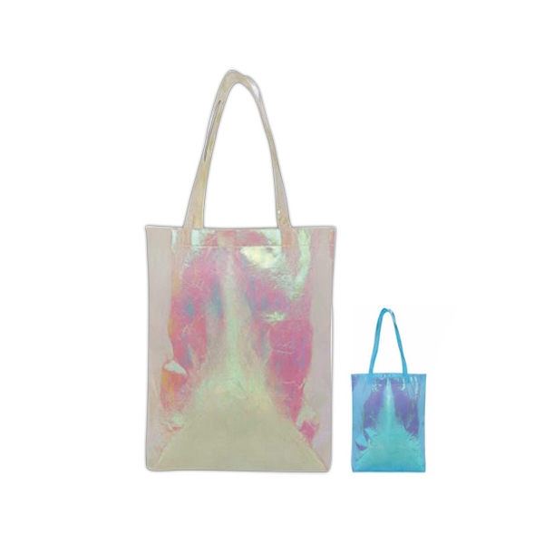 Hologram Non-woven Tote Bag With Long Shoulder Straps Photo