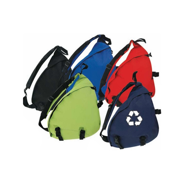 Recycled Material Basic Euro Backpack With Single Strap Cross Body Design Photo