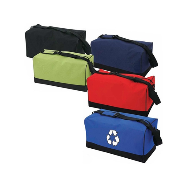 Recycled Material Sports Bag With Top Zippered Closure And Shoulder Pad Photo