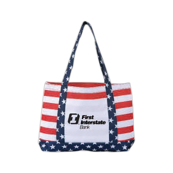 Patriot Design Shoulder Tote Bag With Front Open Pocket, Limited Edition Photo