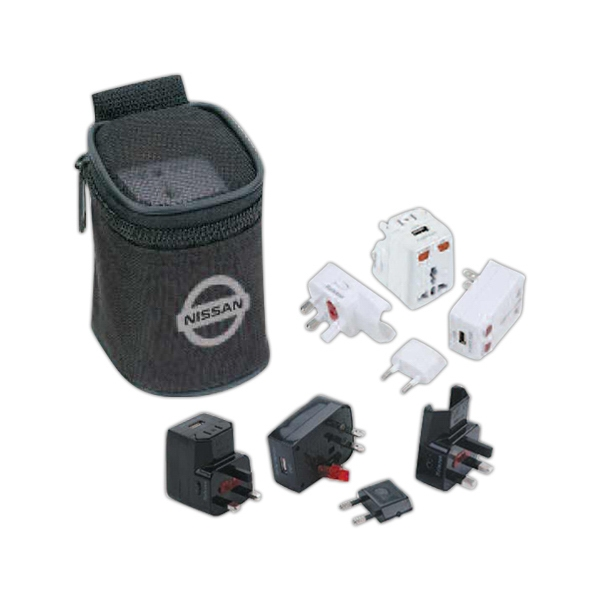 Universal Travel Adaptor With Usb Power Port Kit Photo