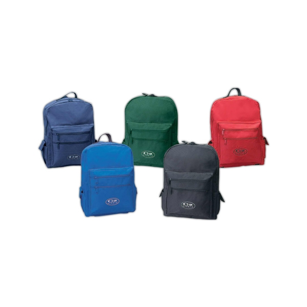 Classic Backpack Made Of 600 Denier Polyester With Top Zippered Main Compartment Photo