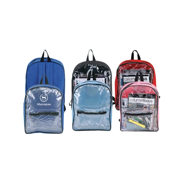 Clear Pvc Backpack With Padded Adjustable Shoulder Straps Photo