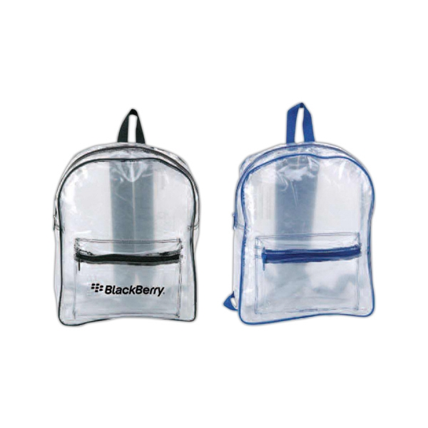 All Clear Pvc Backpack With Front Zippered Pocket Photo
