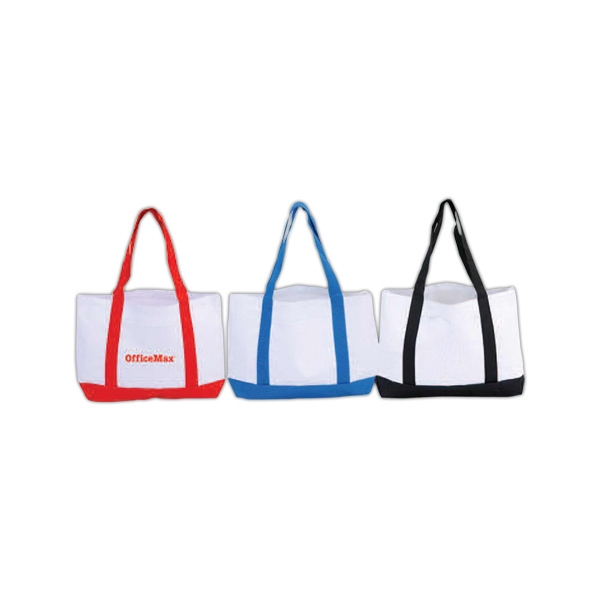 Daily Tote Bag With Matching Color Same Material Shoulder Straps, Front Open Pocket Photo
