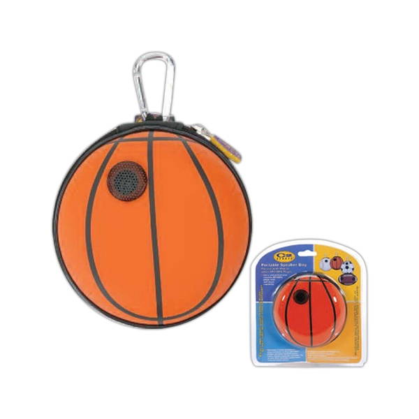 Portable Basketball Speaker Bag Made Of Pu Leather And Eva Photo