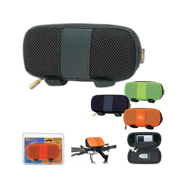Portable Bike Stereo Speaker Bag Made Of Pu Leather, Nylon Mesh And Eva Photo