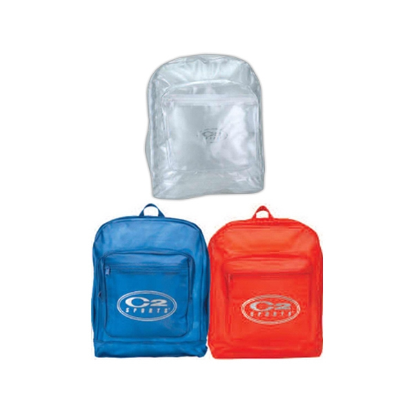 Basic Clear Backpack With Top Zippered Main Compartment And Shoulder Straps Photo