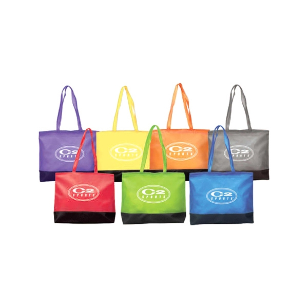 Clear Pvc And Leather Tote Bag Features Zippered Closure, Matching Shoulder Strap Photo