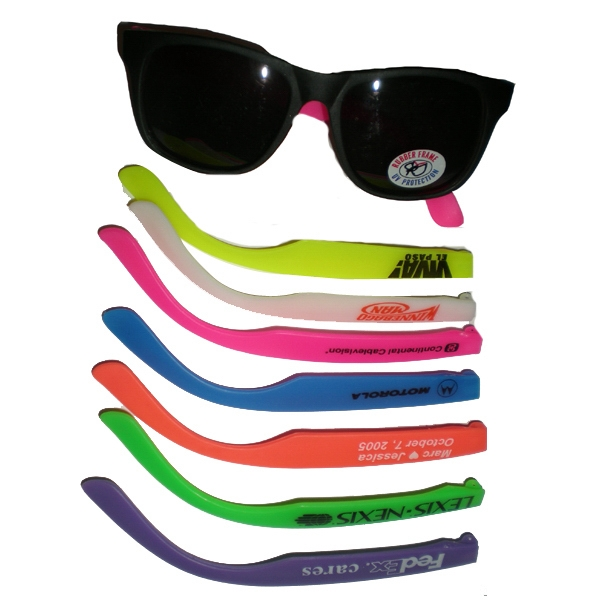 Adult Rubber Frame Sunglasses With Uv Lens Photo
