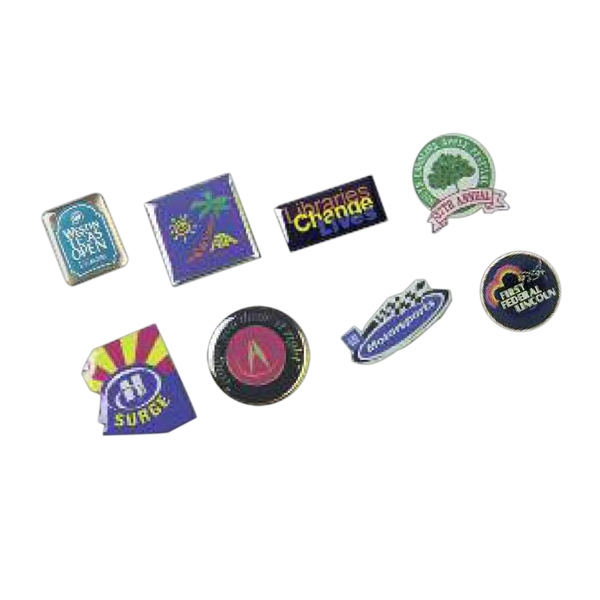 Stock Shapes - Graphic Lapel Pins Photo
