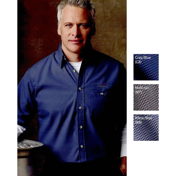 Short Sleeve Mini-Plaid Uniform Shirt