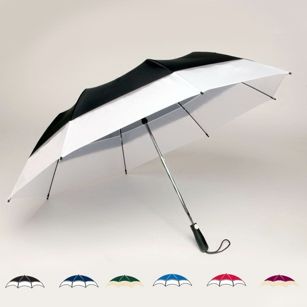 "Georgetown Folder (r) Plus - Double Canopy 58"" Two-tone Umbrella With Carrying Case With Shoulder Strap Photo"