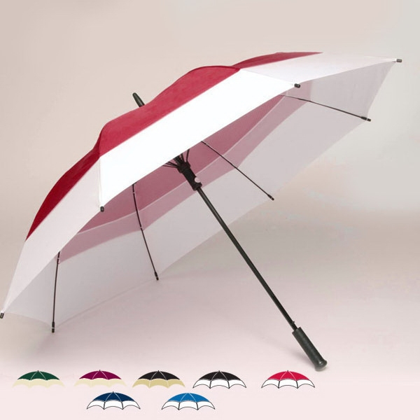 "Oversized Double Canopy 62"" Two-tone Golf Umbrella With Matching Nylon Sheath Photo"