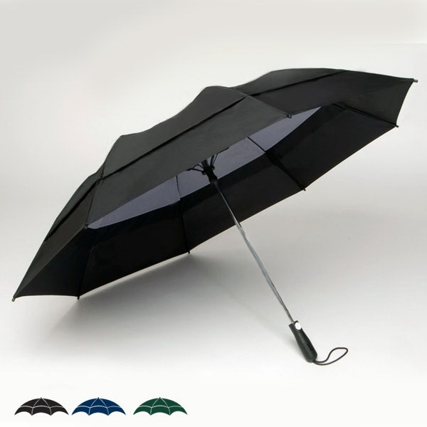 "Georgetown Folder (r) Plus - Double Canopy 58"" Solid Umbrella With Carrying Case With Shoulder Strap Photo"