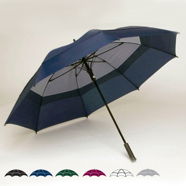 "Oversized Double Canopy 62"" Solid Golf Umbrella With Pro-grip Handle Photo"