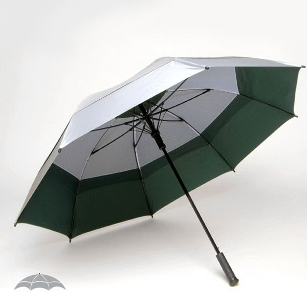 "Solarteck (r) Collection - Oversized Double Canopy 62"" Golf Umbrella Made From Specially Treated Fabric Photo"