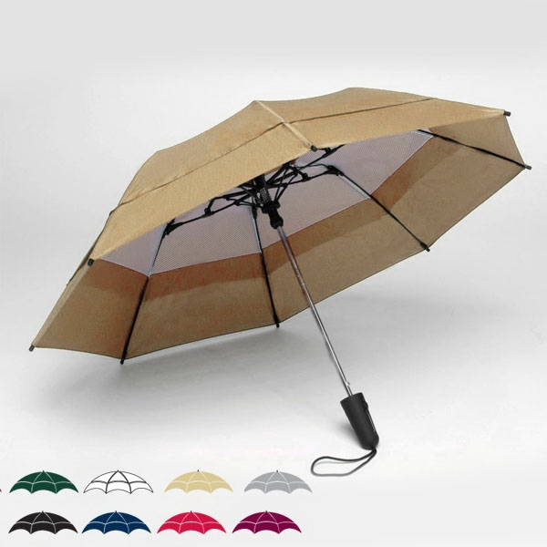 "Georgetown Folder (r) - Double Canopy 44"" Solid Umbrella With Carrying Case And Shoulder Strap Photo"