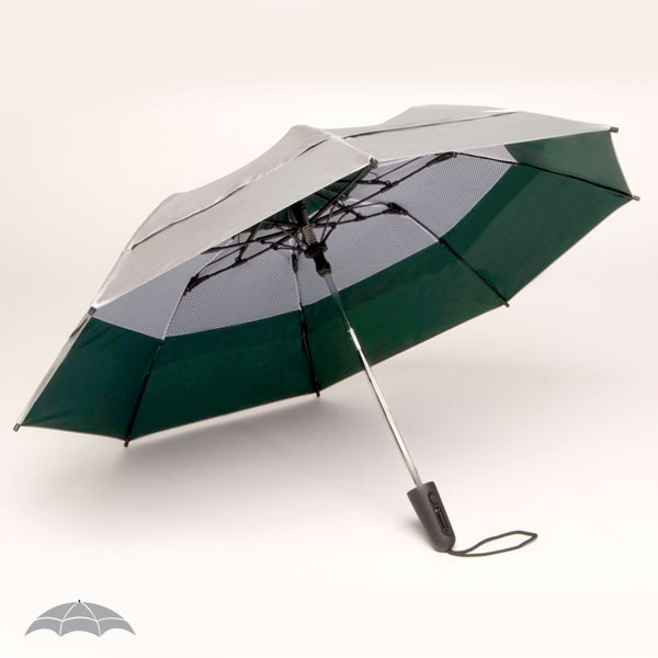 "Georgetown Folder (r) Solarteck (r) Collection - Double Canopy 44"" Umbrella Made From A Specially Treated Fabric Photo"