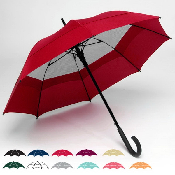 "Windy City (r) - Double Canopy 48"" Solid Umbrella With Matching Carrying Case With Shoulder Strap Photo"