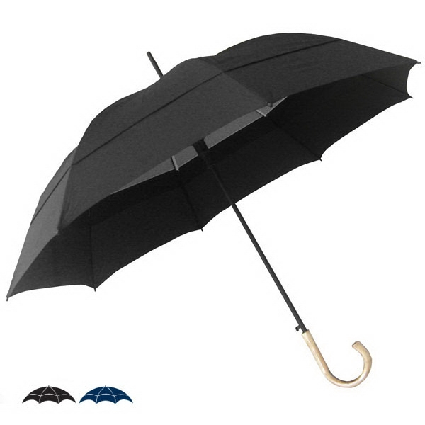 "Windy City (r) - Double Canopy 54"" Solid Umbrella With Auto-open Pinch-less Runner Photo"