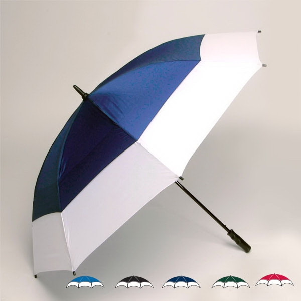 "Wind-tuff(r) - Oversized 62"" Double Canopy Two-tone Golf Umbrella With New Soft Grip Handle Photo"