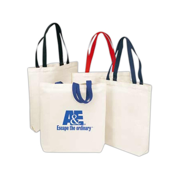 Two-tone Economy Tote Bag Made Of 6 Oz. Cotton Canvas Photo