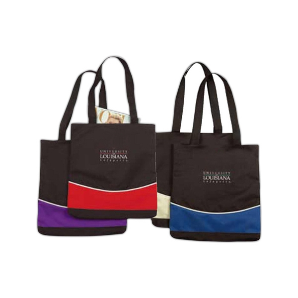 Basic Color-block Tote Bag Made Of 600 Denier Polyester Photo