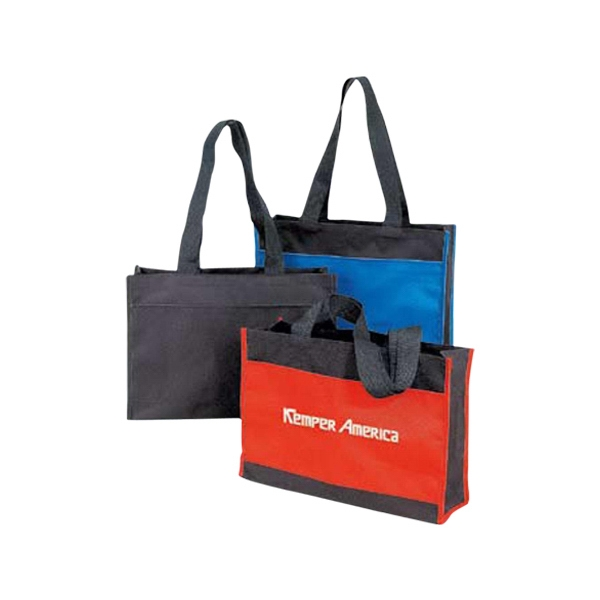 "Classic Poly Tote With Top Velcro Closure, 24"" Handles Photo"