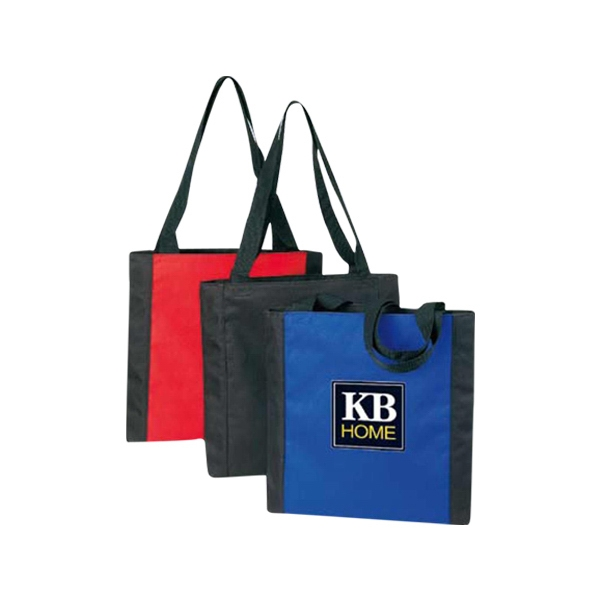 Medium Two-tone Tote Bag With Top Zipper Closure Photo