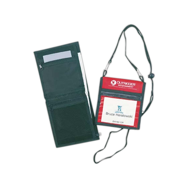 Badge Holder/wallet, With Clear Slip Pocket In Front, Belt Loop In Rear, Unfolds Photo