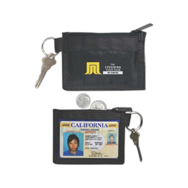 Three In One Key Kit, With Clear Id Holder, Coin Pocket, And Key Ring Photo