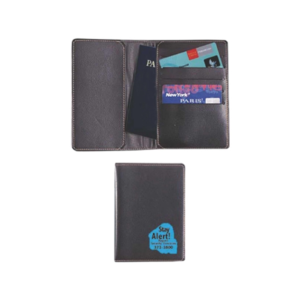 Passport Holder With Passport Pocket And Card Holders Made Of Simulated Leather Photo