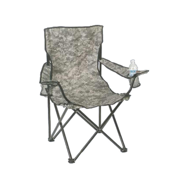 Chair With Bag, One-piece Sling Seat Back, And Acu Camouflage Design Photo