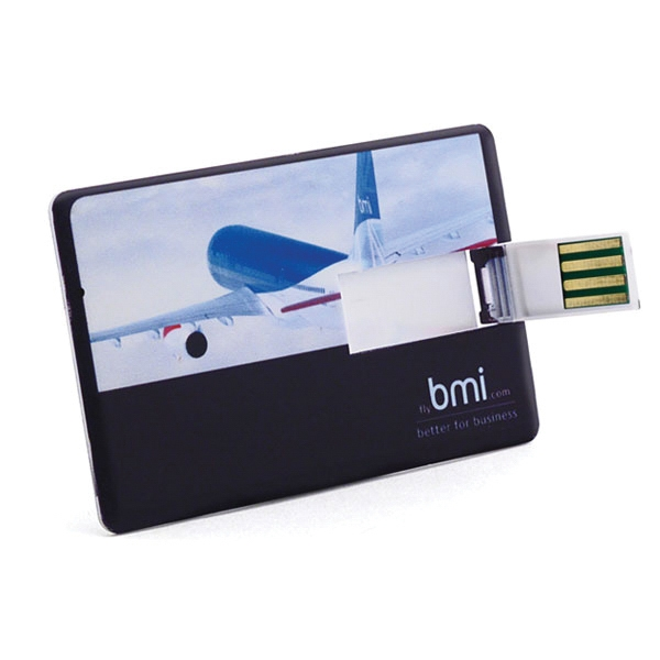 4gb - Card Usb Drive 500 Global Saver - The Thinnest Of Our Credit Card Usb Drive Photo