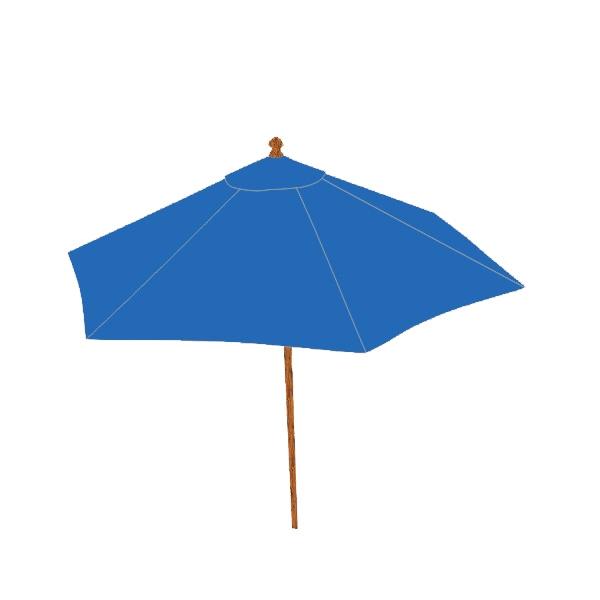 Beach umbrella - Blank Round market patio umbrella with commercial grade aluminum frame.