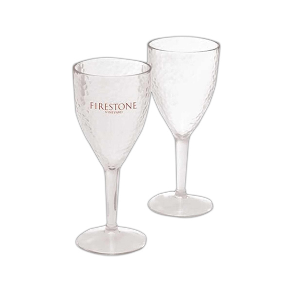 Hammered Polystyrene Wine Glass Photo