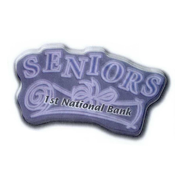 "Custom Shaped Magnet - Acrylic Die Cut Magnet, 1/8"" Thick, 9 Square Inches Photo"