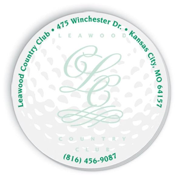 "Triple Spidertac (r) - Golf Ball - Small Die Cut, 3"" X 4"" Adhesive Sticky Notes With Matching Stock Design, 25 Sheets Photo"