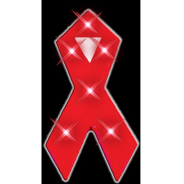 Red Ribbon Flashing Pins