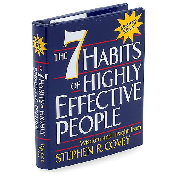 7 Habits Of Highly Effective People - Hardcover Palm Size Miniature Edition Book By Steven Covey, 128 Pages, Blank Photo