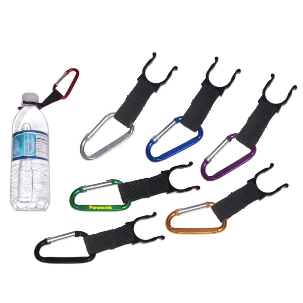 Water bottle holder with carabiner
