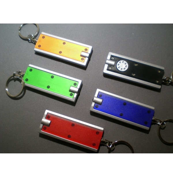Key Chain With Bright Led Bulb And Push Button Switch Photo