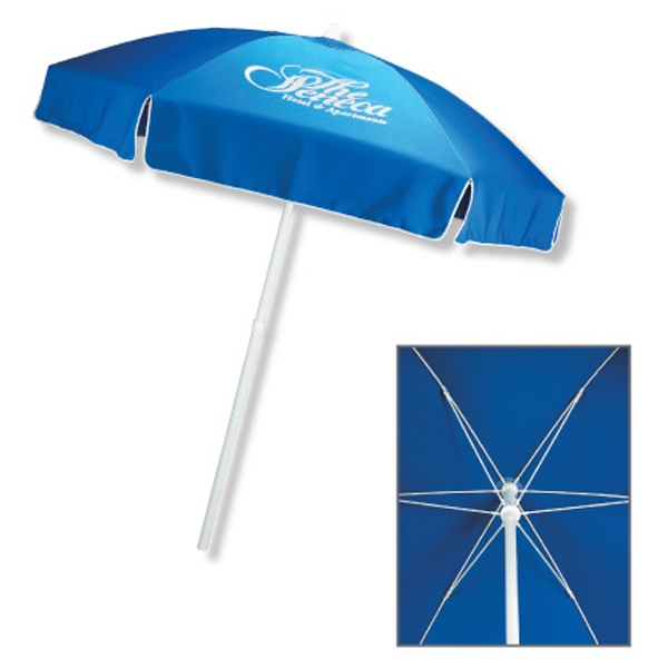 In Stock Polyester Patio/Cafe Umbrella with Fiberglass Ribs