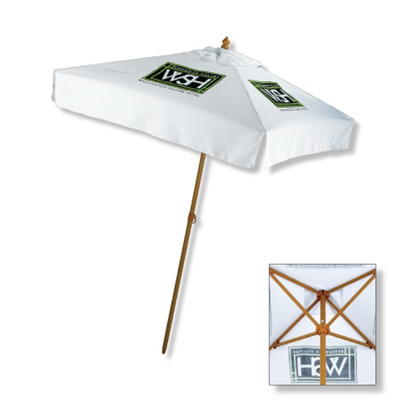 In Stock 7 Ft. Aluminum Market Square Design Umbrella Photo