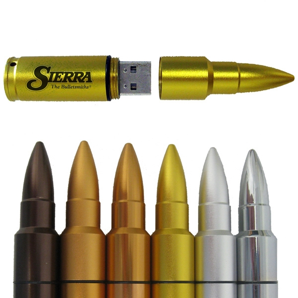 "Bullet Drive Ii - 8gb - Bullet Shape Usb Flash Drive With A Screw On/off Cap, 3.5"" L X 0.625"" Diameter Photo"