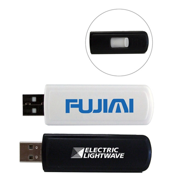 "Retract-a-drive I - 64mb - Retractable Usb Drive, Executive Design, 0.88"" W X 0.38"" H X 2.31"" L Photo"